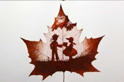 叶子上的艺术