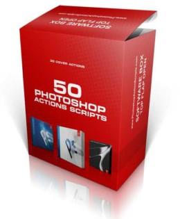 PhotoShop包装效果图生成动作(50款)