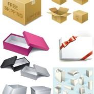 简洁的单色盒子袋子素材